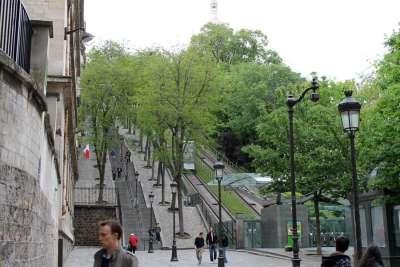 Лестница и фуникулер на Монмартр
