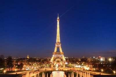 Эйфелева башня. Ночной вид