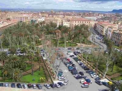 Piazza Vittoria Palermo. Вид сверху