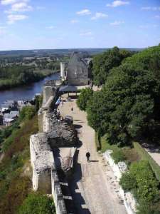 Вид на королевские покои с часовой башни