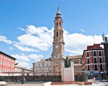Собор Сан Сальвадор и памятник Гойе