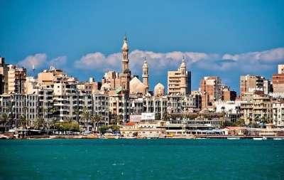 Александрия с моря