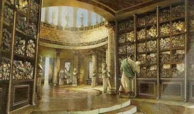 Залы древней библиотеки