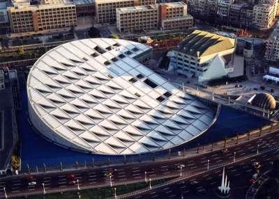 Современная Александрийская библиотека. Вид сверху