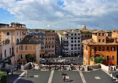Вид на Рим с вершины Испанской лестницы