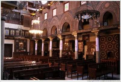 Церковь Аль-Муалляка внутри