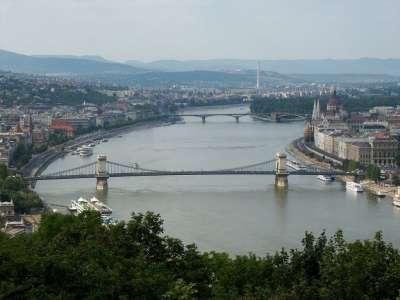 Река Дунай. Будапешт