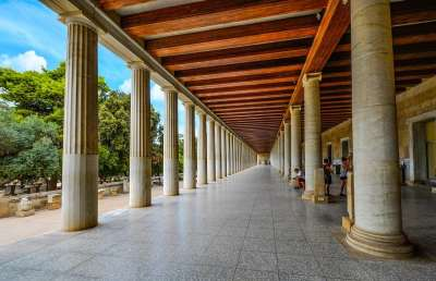 Восстановленная галерея на Афинской Агоре