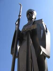 Памятник аббату Олибе а городе Вик