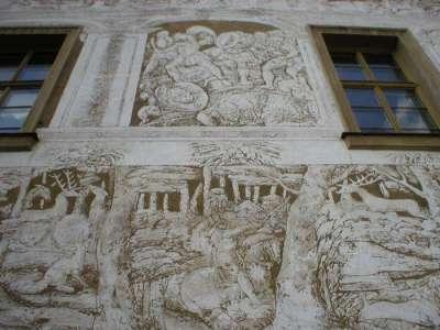 Роспись на стенах замка