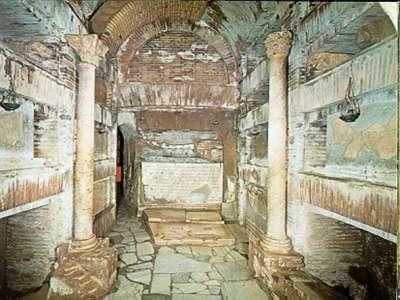 Фрески в катакомбах Св. Калиста