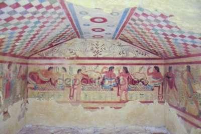 Этрусские гробницы с фресками