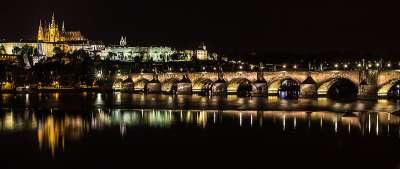 Карлов Мост. Ночной вид
