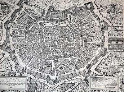 Карта Милана 1573 года