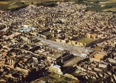 Вид на Помпеи сверху