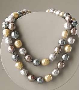 Ожерелье из органического жемчуга Майорика