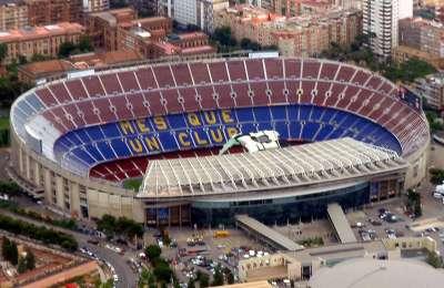 Стадион Камп Ноу. Вид сверху