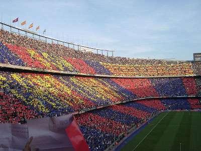 Трибуны болельщиков Барселоны