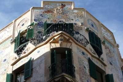 Мозаика на стенах Гранд Отеля