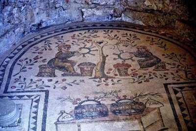 Мозаика на вилле в Казале