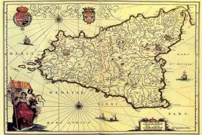 Карта Сицилии