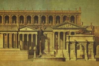 Иллюстрация Храма Веспасиана