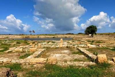 Остатки античных поселений на Моции