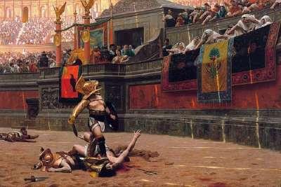 Гладиаторские бои на арене Колизея