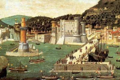 Иллюстрация замка в Неаполе