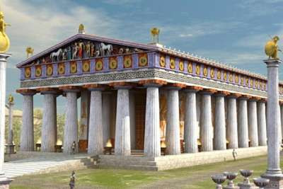 Reconstruction of temple