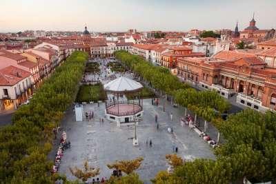 Площадь Сервантеса в городе Алькала-де-Энарес