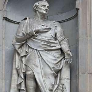 Статуя Веспуччи во Флоренции