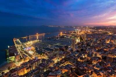 Ночной город Валенсия