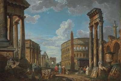 Храм Кастора и Поллукса на картине Джованни Паоло