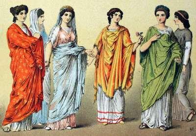 Женская одежда в Древнем Риме