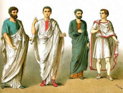 Иллюстрация мужской одежды в Древнем Риме