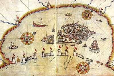 Карта Венеции 16 века