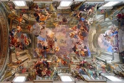 Потолок в церкви Сант-Иньяцио