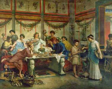 Римский пир художника Роберто Бомпиани
