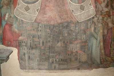 Вид на Флоренцию на фреске «Богоматерь Милосердия»
