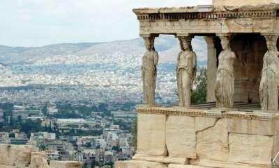 Кариатиды храма Эрехтейон