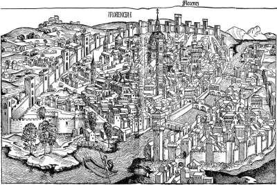 Карта Средневековой Флоренции