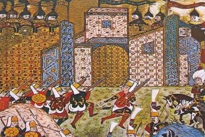Нападение турков на крепость