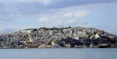 Пирей. Вид на город с моря