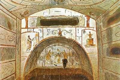 Рисунки на стенах катакомб