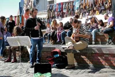 Уличные музыканты на Эль Растро