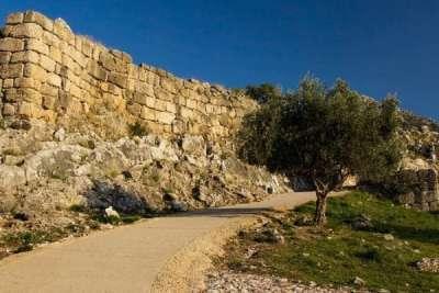 Крепостная стена Микен