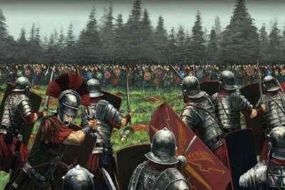 Сражение римской армии