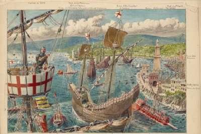 Иллюстрация порта Генуи