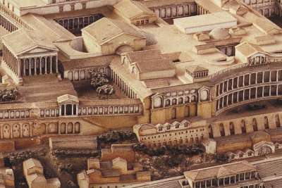 Иллюстрация холма Палатин в Древнем Риме